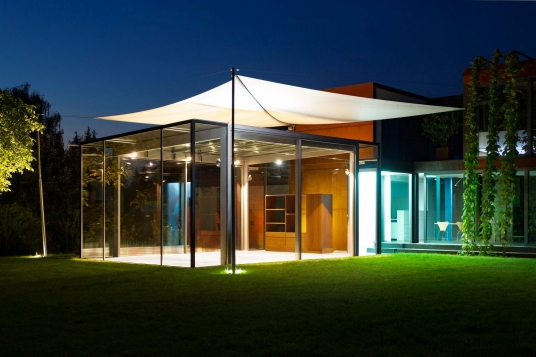 sonnensegel wintergarten, elektrisches sonnensegel als dach über einem wintergarten, Design ideen